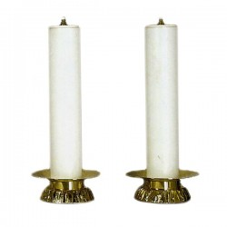 CANDLEHOLDERS COUPLE WITH SIMULATED CANDLE