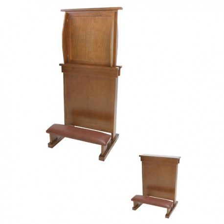 KNEELING-STOOL WITH CONFESSIONAL