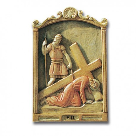 CARVED WOOD VIA CRUCIS