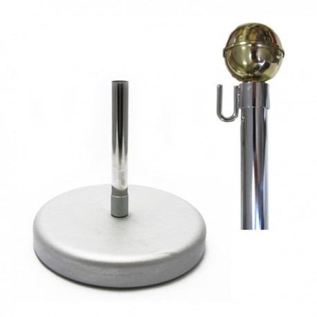SILVER-PLATED SET WITH KNOB