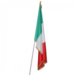 FLAG OF ITALY WITH FRINGE
