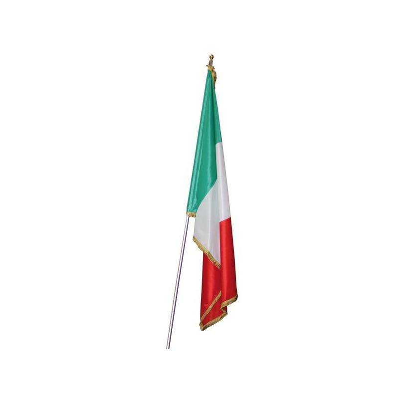 Bandiera italiana da ufficio o corteo in tessuto moella bemberg tipo seta - Porta bandiere da tavolo ...