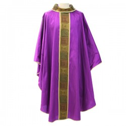 EMBROIDERED POLYESTER CHASUBLE