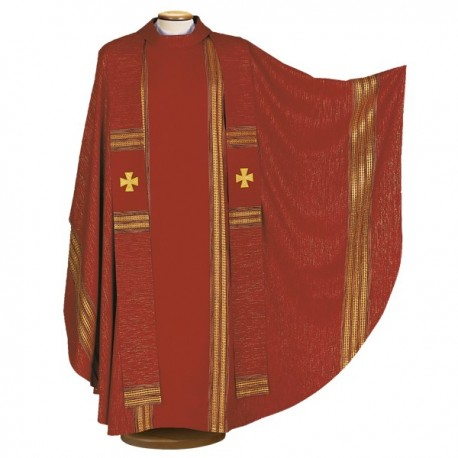 WOOL AND LUREX CHASUBLE