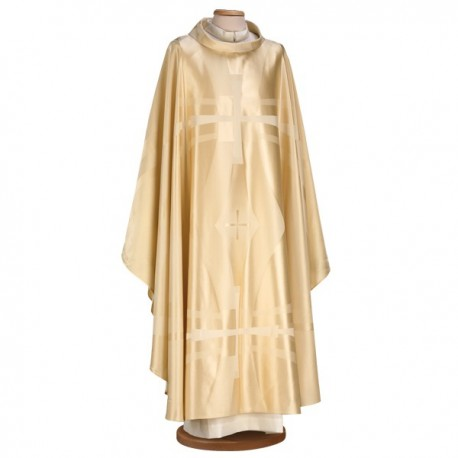 EMBROIDERED SILK AND WOOL CHASUBLE