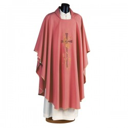 HAND-EMBROIDERED POLYESTER CHASUBLE