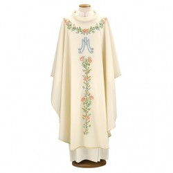 HAND-EMBROIDERED MARIAN CHASUBLE