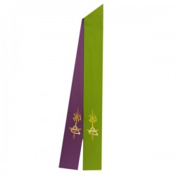 TWO-COLOURED EMBROIDERED STOLE