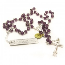 SILVER AND SWAROVSKY ROSARY