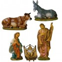 UNBREAKABLE NATIVITY SCENE 5 PIECES
