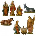 UNBREAKABLE NATIVITY SCENE 8 PIECES