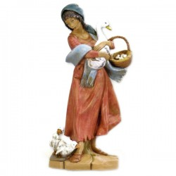 SHEPHERDESS WITH GOOSES