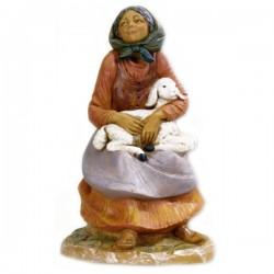 SHEPHERDESS WITH LAMB