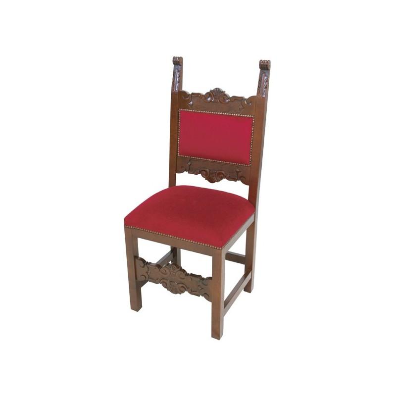 Serie de sillas escabeles y sill n de pintura nuez con for Sillas para novios