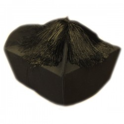 BLACK CAP WITH BOW