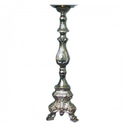 SILVER-PLATED ROCOCO' CANDLEHOLDER