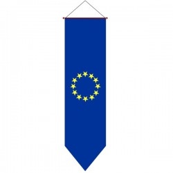 VERTICAL EUROPEAN FLAG TO HANG UP