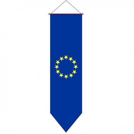 BANDERA EUROPEA VERTICAL PARA COLGAR