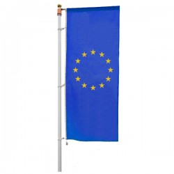 BANDIERA EUROPA VERTICALE B/G