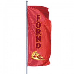 VERTICAL FLAG WITH PRINTED LOGO