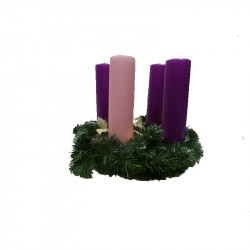 ADVENT CANDLESTICK PINK AND PURPLE