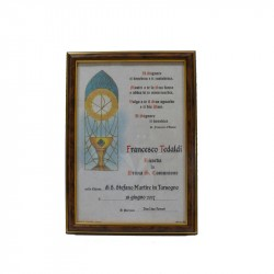 ATTESTED FIRST COMMUNION WITH FRAME