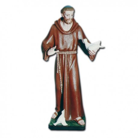 SAINT FRANCIS WITH OPEN ARMS AND DOVES