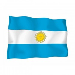 FLAG OF ARGENTINA WITH THE EMBLEM