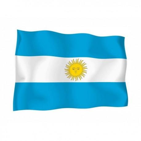 BANDERA DE ARGENTINA CON EMBLEMA