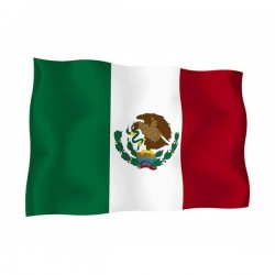 FLAG OF MEXICO WITH THE COAT OF ARMS