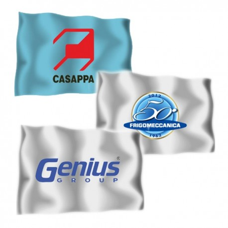 FLAGS WITH BUSINESS LOGO