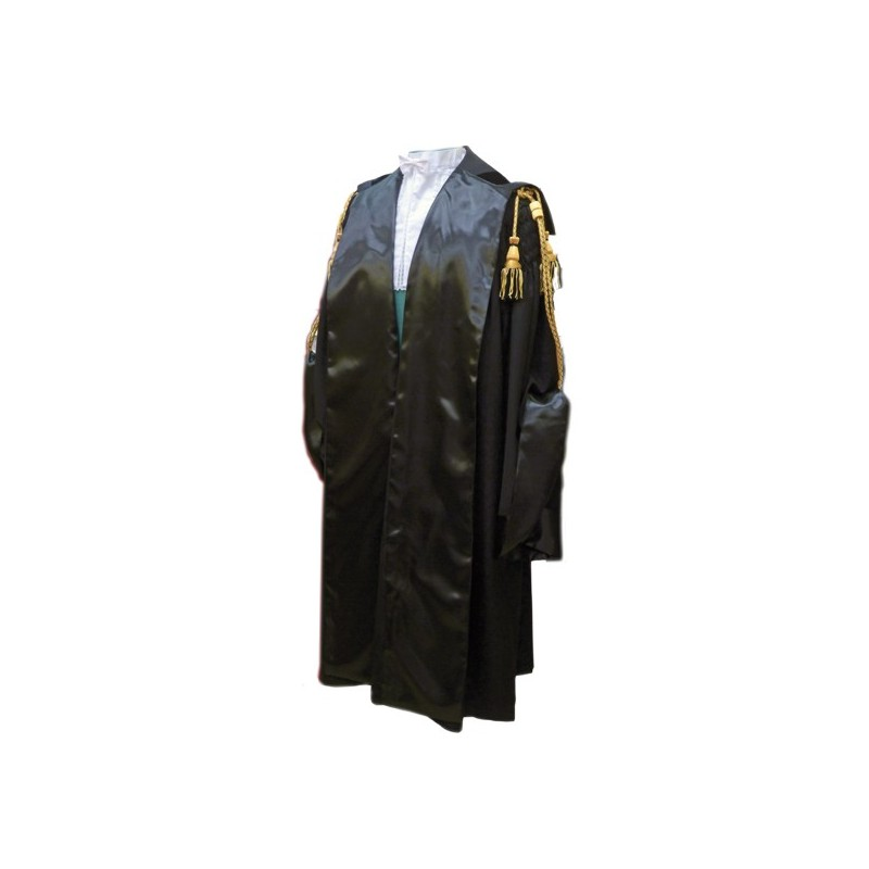 Gown for lawyers and magistrates.