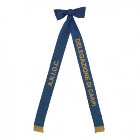 BLUE RIBBON WITH LETTERING