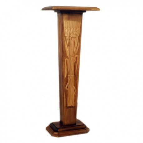 WOODEN COLUMN FOR STATUE