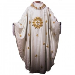 HAND-EMBROIDERED SILK CHASUBLE