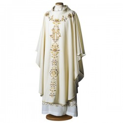 EMBROIDERED WOOL CHASUBLE