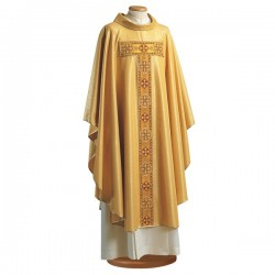 EMBROIDERED WOOL AND LUREX CHASUBLE