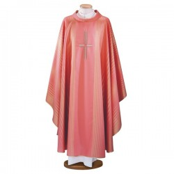 HAND-EMBROIDERED WOOL AND LUREX CHASUBLE