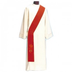 TWO-COLOURED DEACON'S EMBROIDERED STOLE