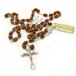 SILVER AND COCONUT ROSARY