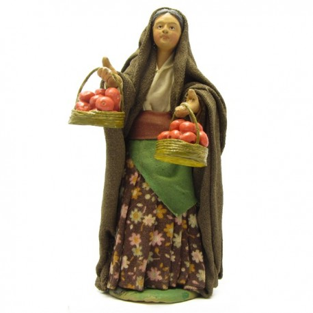 WOMAN WITH APPLES BASKETS