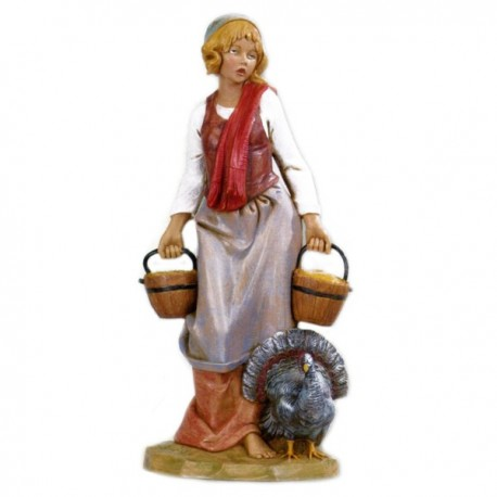 SHEPHERDESS WITH BUCKET