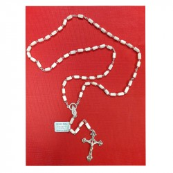 SILVER AND MOTHER-OF-PEARL ROSARY