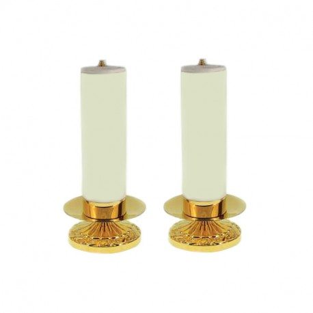 CANDLEHOLDER WITH SIMULATED CANDLE