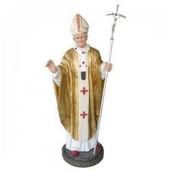 POPE JOHN PAUL II WITH METAL CROSIER